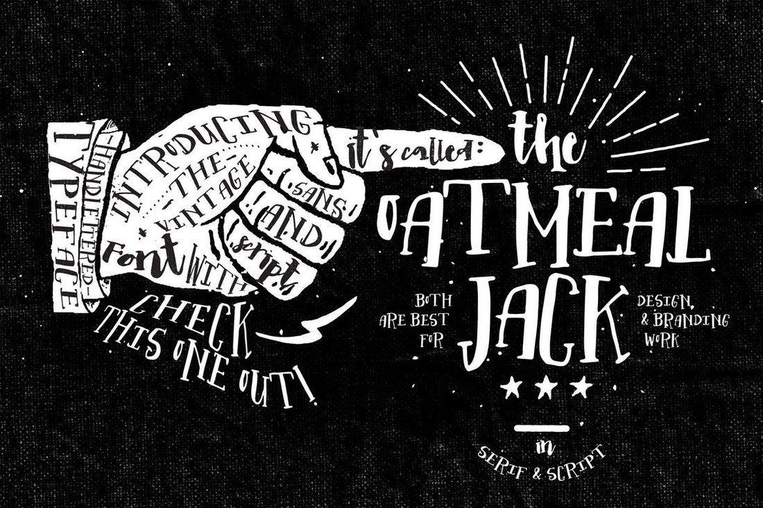 Oatmeal-Jack 100+ Best Modern Serif Fonts design tips