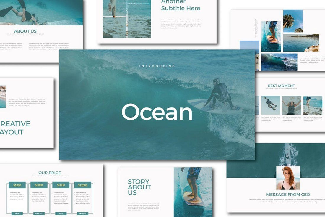Ocean-Keynote-Template 30+ Best Minimal & Creative Keynote Templates design tips