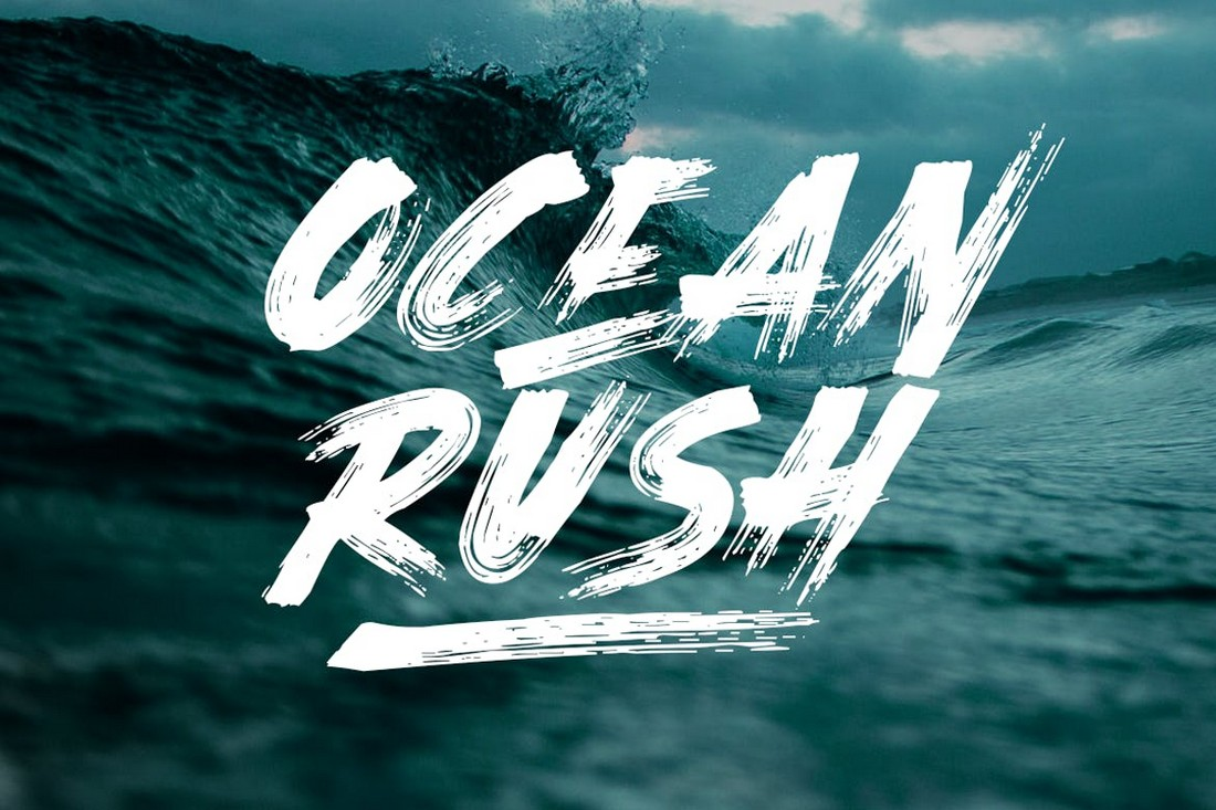 Ocean Rush - Adventure YouTube Font