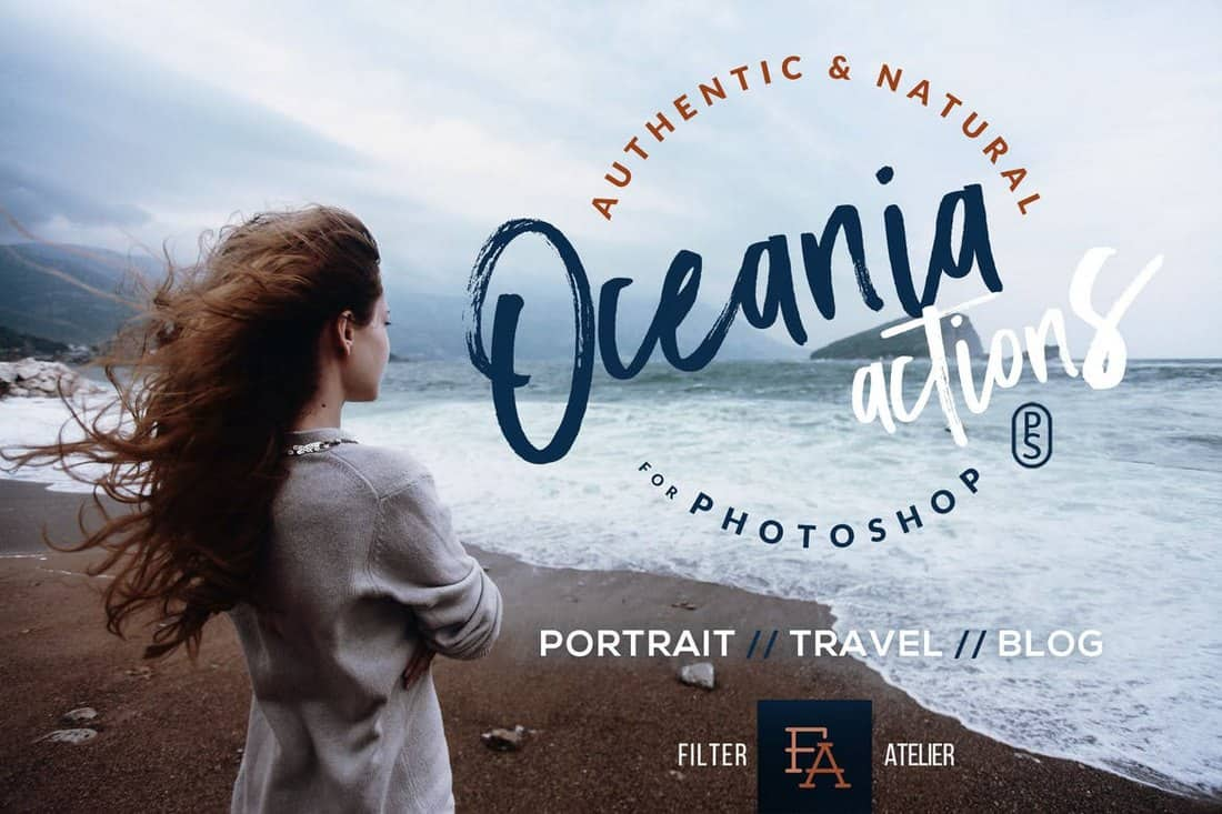 Oceania - Portrait Photoshop Actions