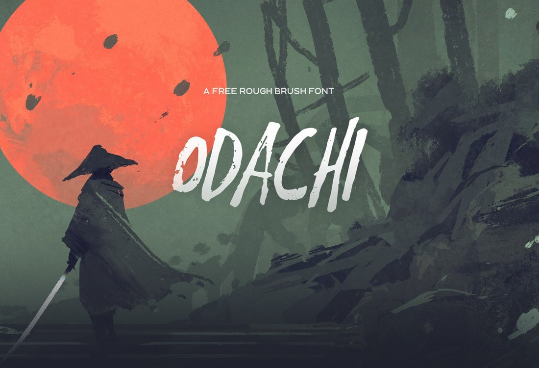 Odachi-Free-Brush-Font-1 25+ Free Brush, Script & Hand Lettering Fonts design tips