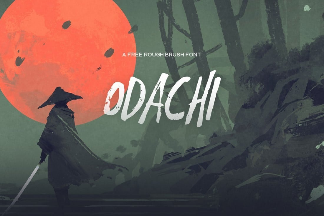 Odachi-Free-Brush-Font 60+ Best Free Fonts for Designers 2019 (Serif, Script & Sans Serif) design tips