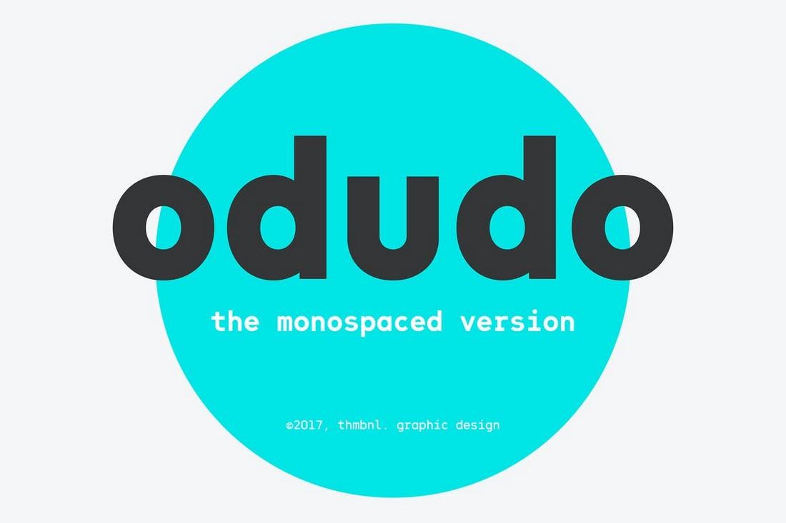 Odudo-Mono 10+ Professional Monospaced Fonts for Designers design tips