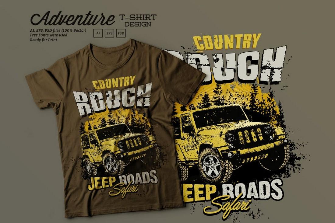 Off Road Adventure T Shirt Design