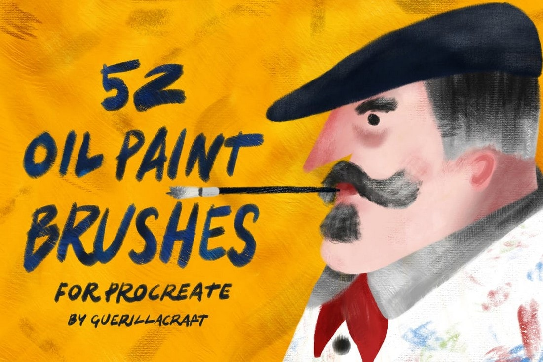 Oil-Paint-Brushes-for-Procreate 30+ Best Procreate Brushes 2020 (Free & Pro) design tips