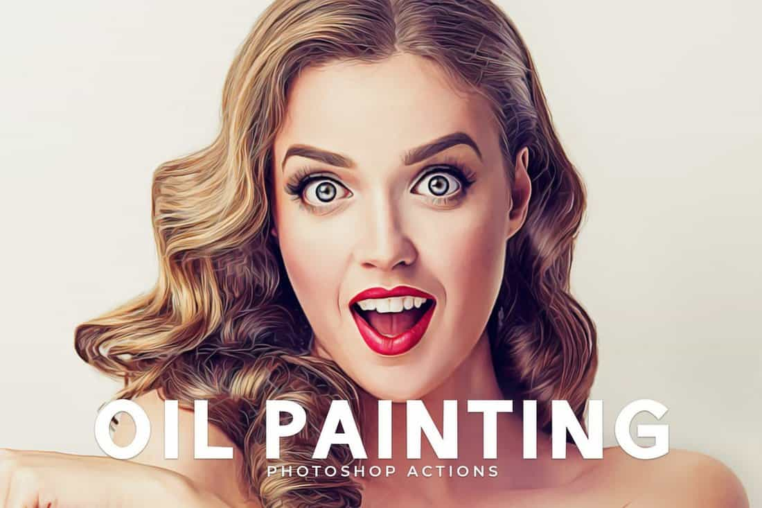 Oil Painting - Portrait Photoshop Actions