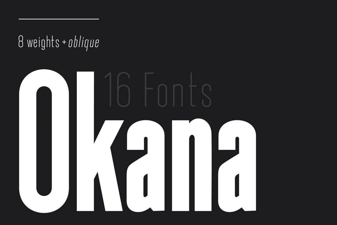 Okana-Sans-Serif-Font 50+ Best Condensed & Narrow Fonts of 2020 design tips
