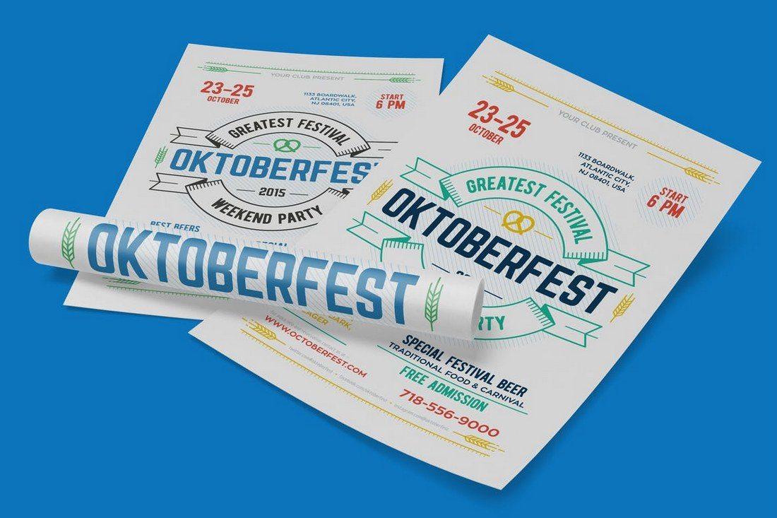 Oktoberfest-Festival-Poster 27 Inspiring Letterpress Style Posters design tips