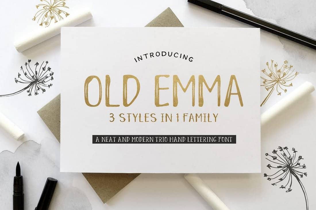 Old Emma - Handlettering Wedding Font