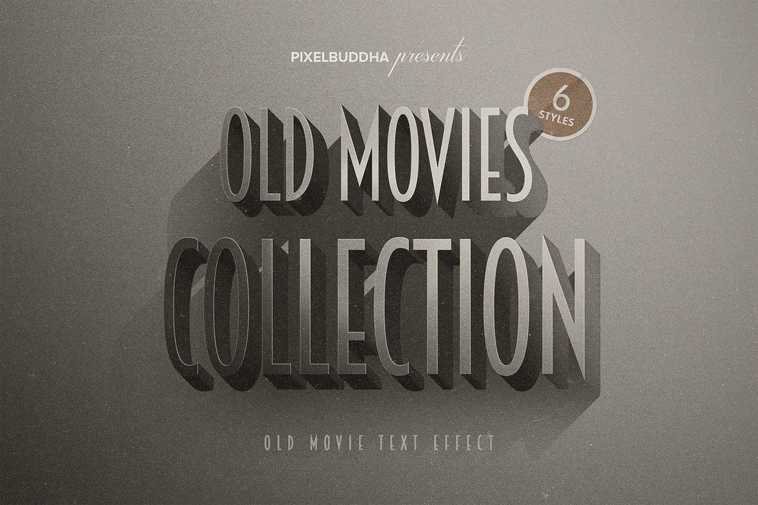 Old-Movie-Titles-Photoshop-Layer-Styles 20+ Best Photoshop Layer Styles in 2021 (Free & Premium) design tips