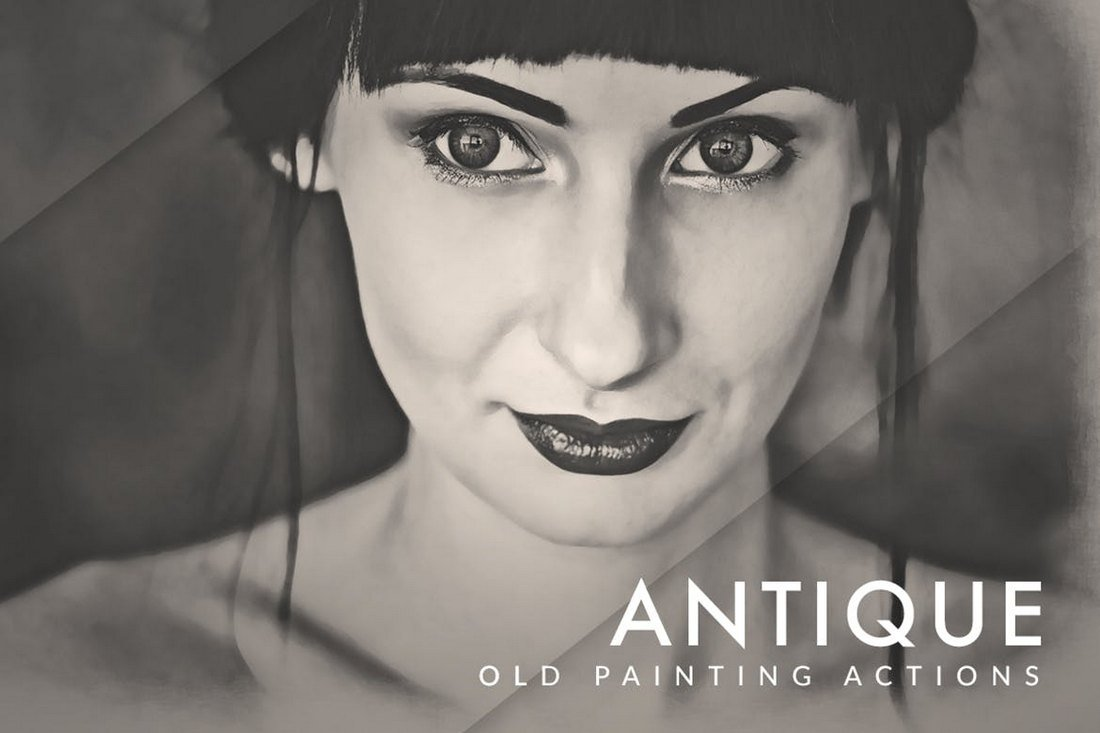 Old Painting FX Photoshop Actions