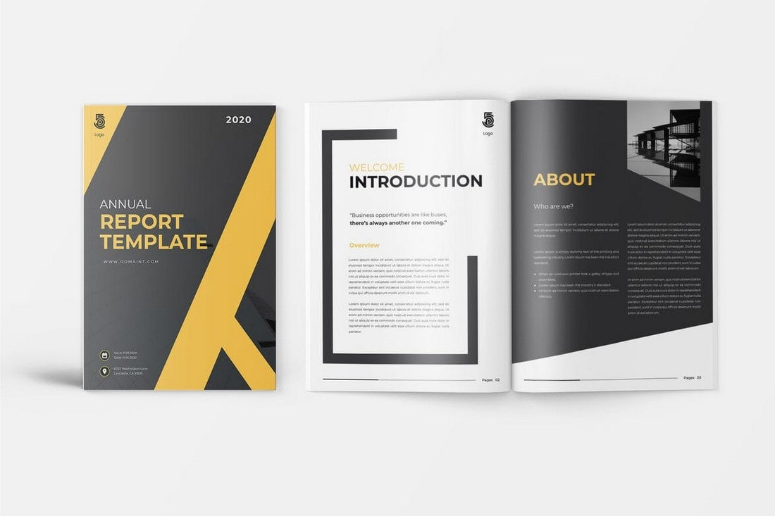Olio-Business-Annual-Report-Template 30+ Annual Report Templates (Word & InDesign) 2020 design tips  Inspiration|annual|report|template