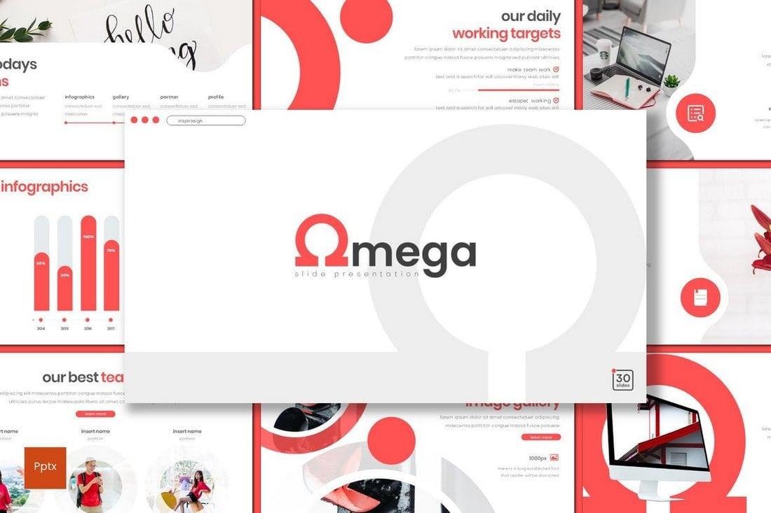 Omega - Creative Minimal Powerpoint Template