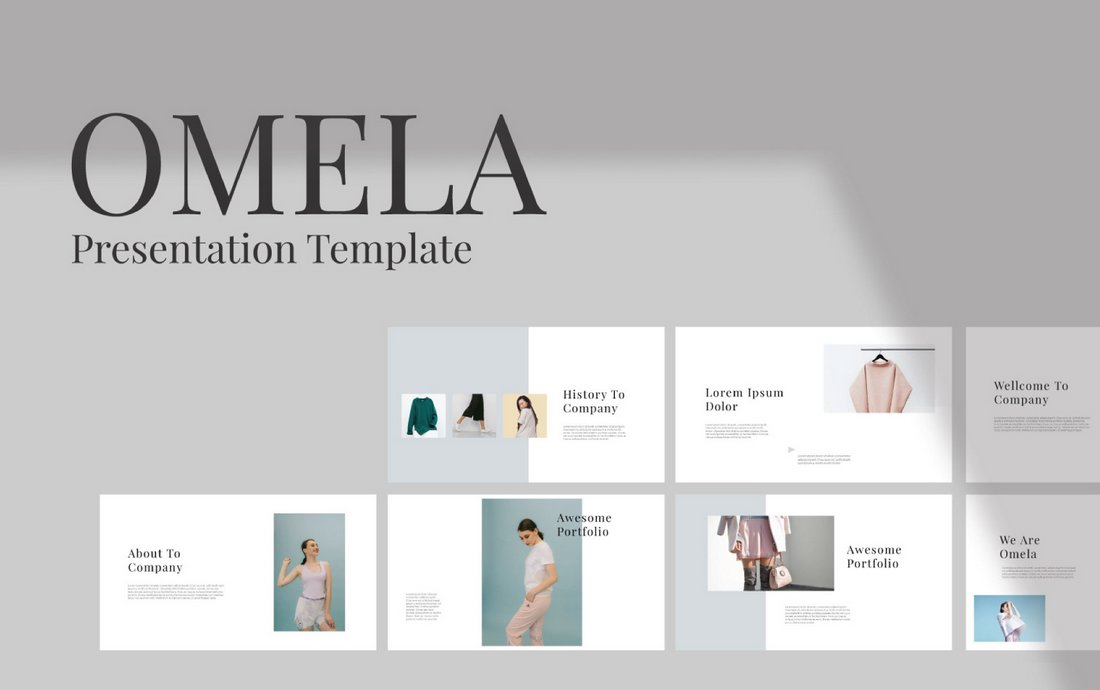 Omela - Free Minimal Keynote Template