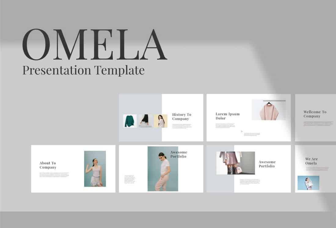 Omelia - Minimal Free Keynote Template
