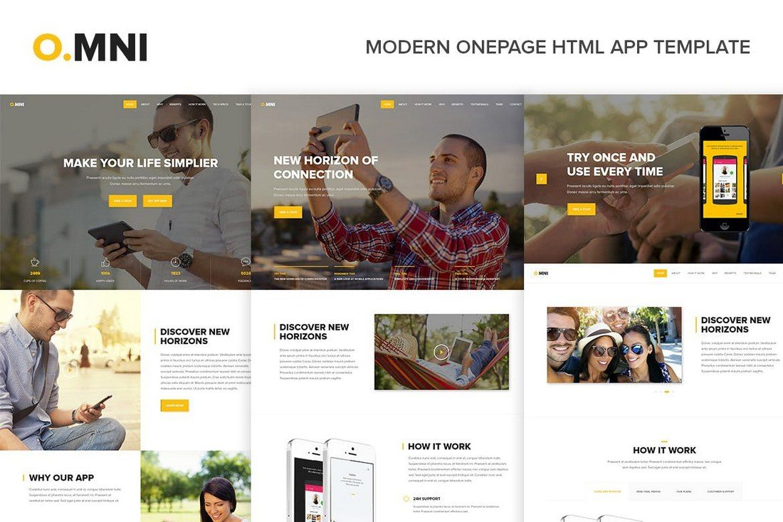 Omni-Modern-Onepage-HTML-App-Template 35+ Best App Landing Page Templates 2019 design tips