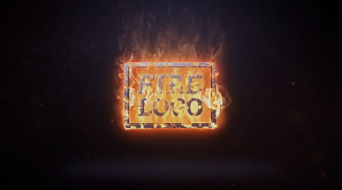 On Fire Logo Animation Template