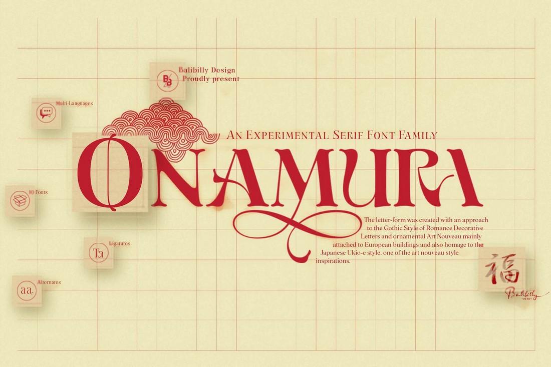 Onamura - Free Experimental Serif Font