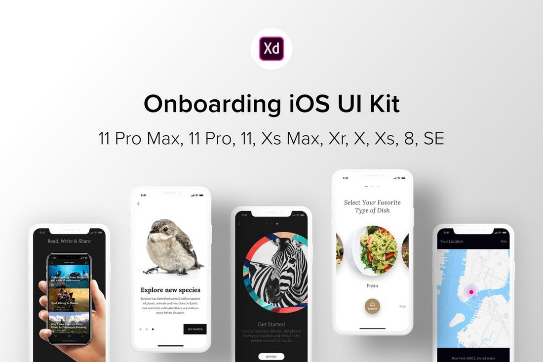 Onboarding-iOS-UI-Kit-for-Adobe-XD 30+ Best Adobe XD UI Kits + Templates 2020 design tips