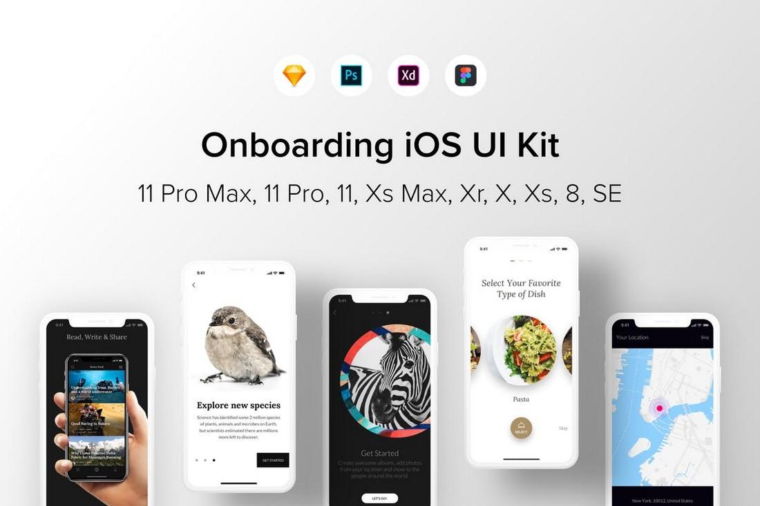 Onboarding iOS UI Kit for Figma