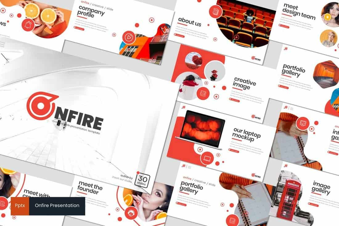 Onfire - Creative Powerpoint Template