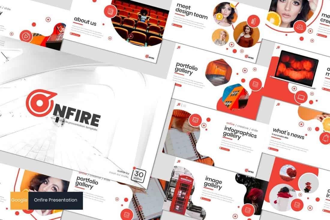 Onfire - Modern Google Slides Template