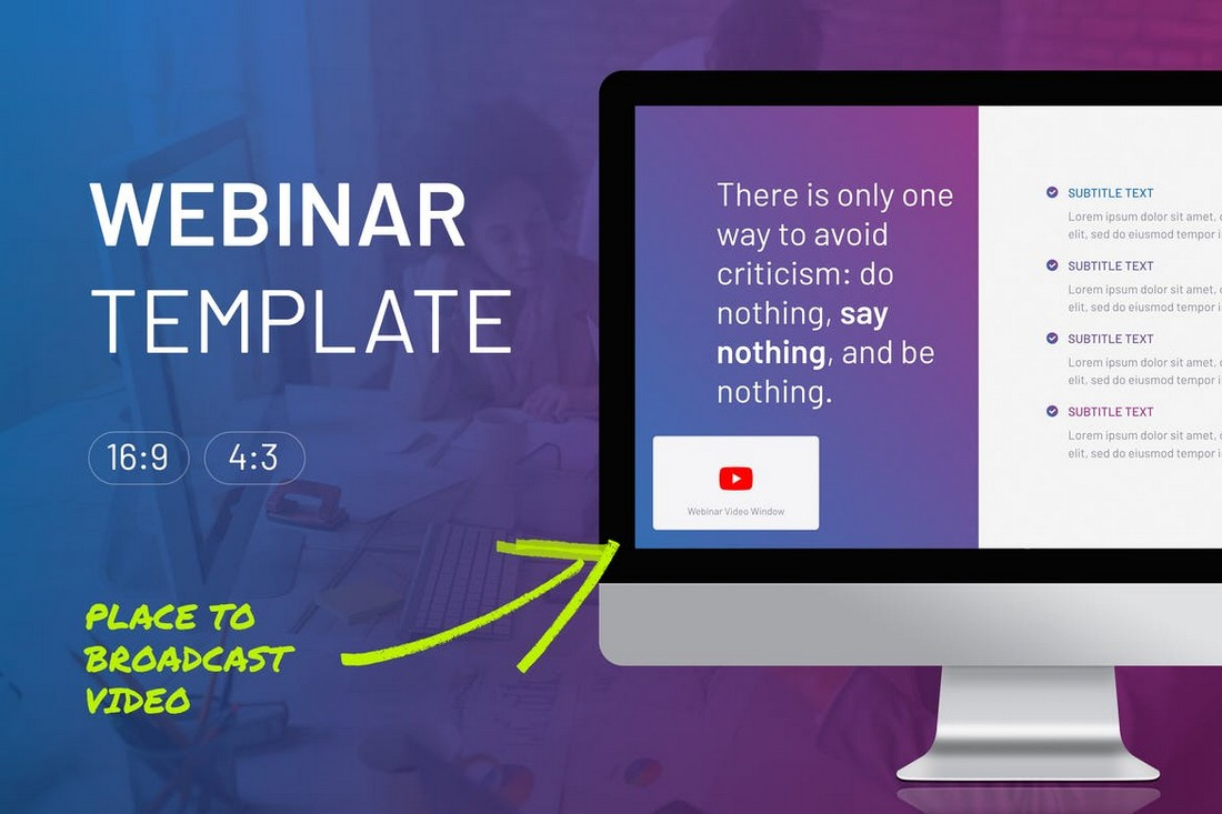 Online-Webinar-PowerPoint-Template 20+ Best Webinar PowerPoint Templates (Remote Presentation PPT Slides) design tips