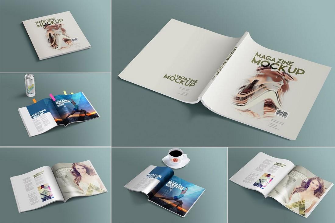 Open & Close Magazine Mockups