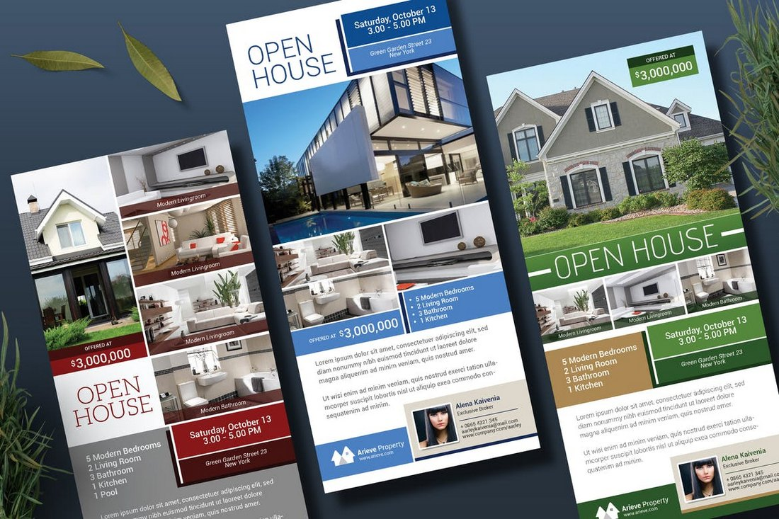 Open-House-Real-Estate-Rack-Card-Template 30+ Best Real Estate Flyer Templates design tips  Inspiration|flyer|property|real estate