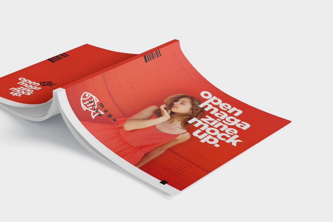 Open Magazine Cover Mockups