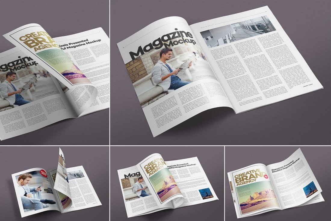 Open Magazine Mockup Templates