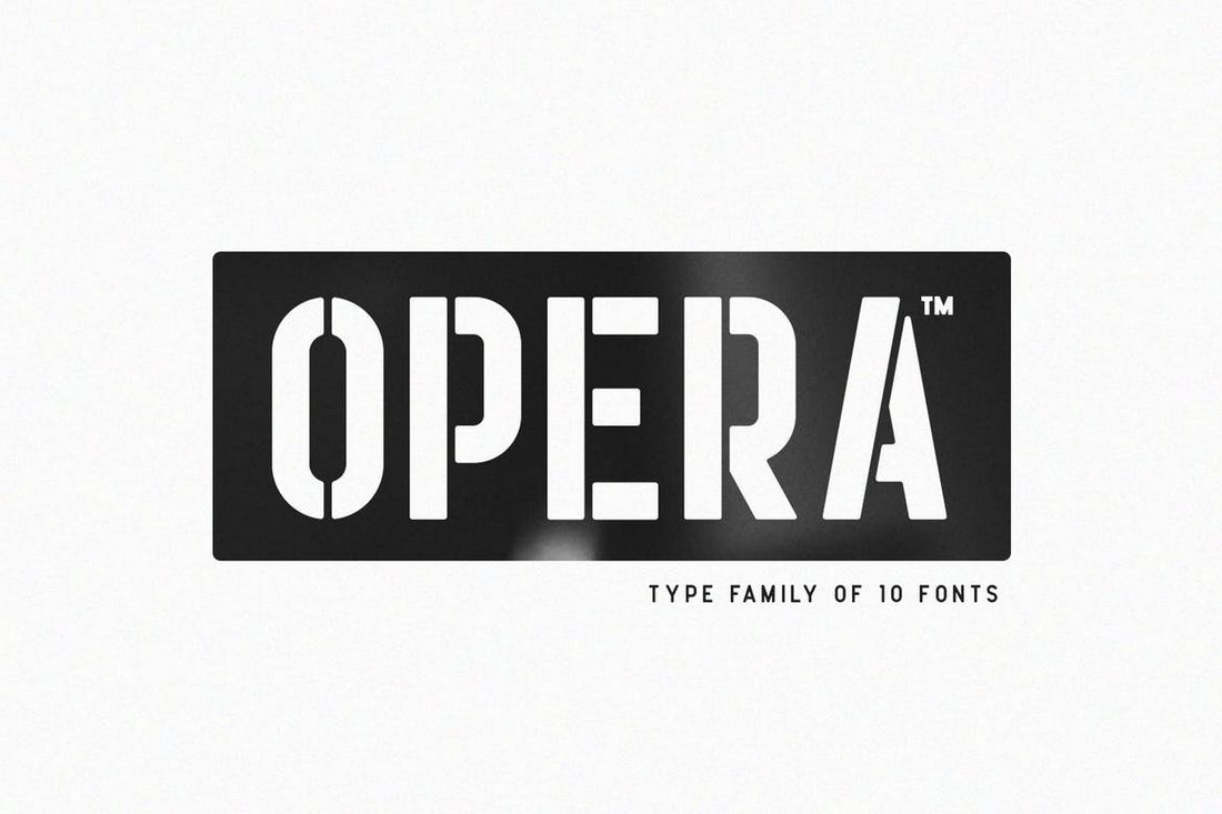 Opera-Stencil-Font 30+ Best Stencil Fonts design tips