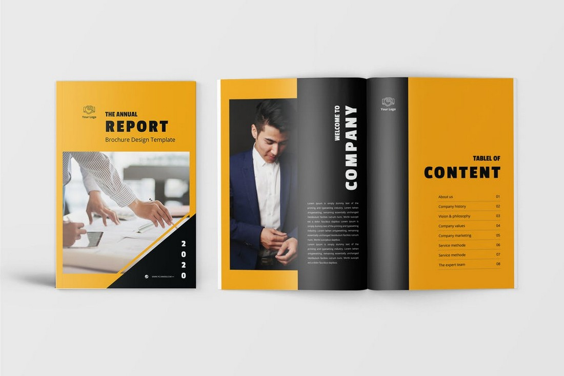 Orblack-Annual-Report-Template 50+ Annual Report Templates (Word & InDesign) 2021 design tips