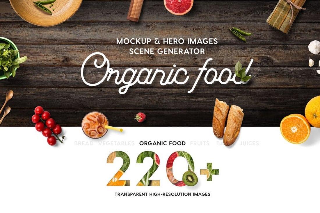 Organic Food Mockup & Hero Images Scene Generator