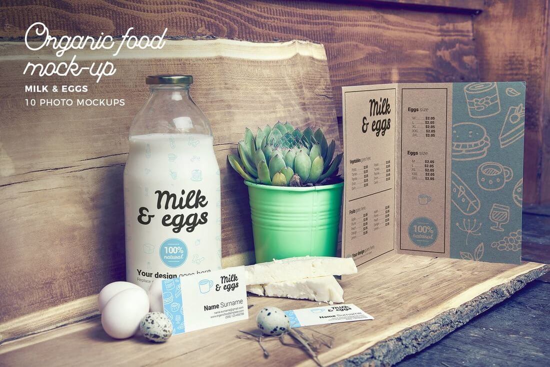 30+ Stunning Food, Drink & Packaging Design Mockups 24