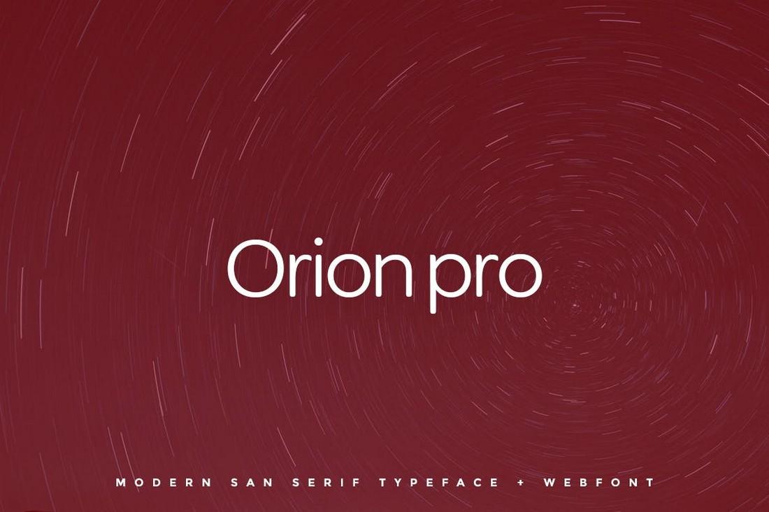 Orion Pro - Creative Simple Font