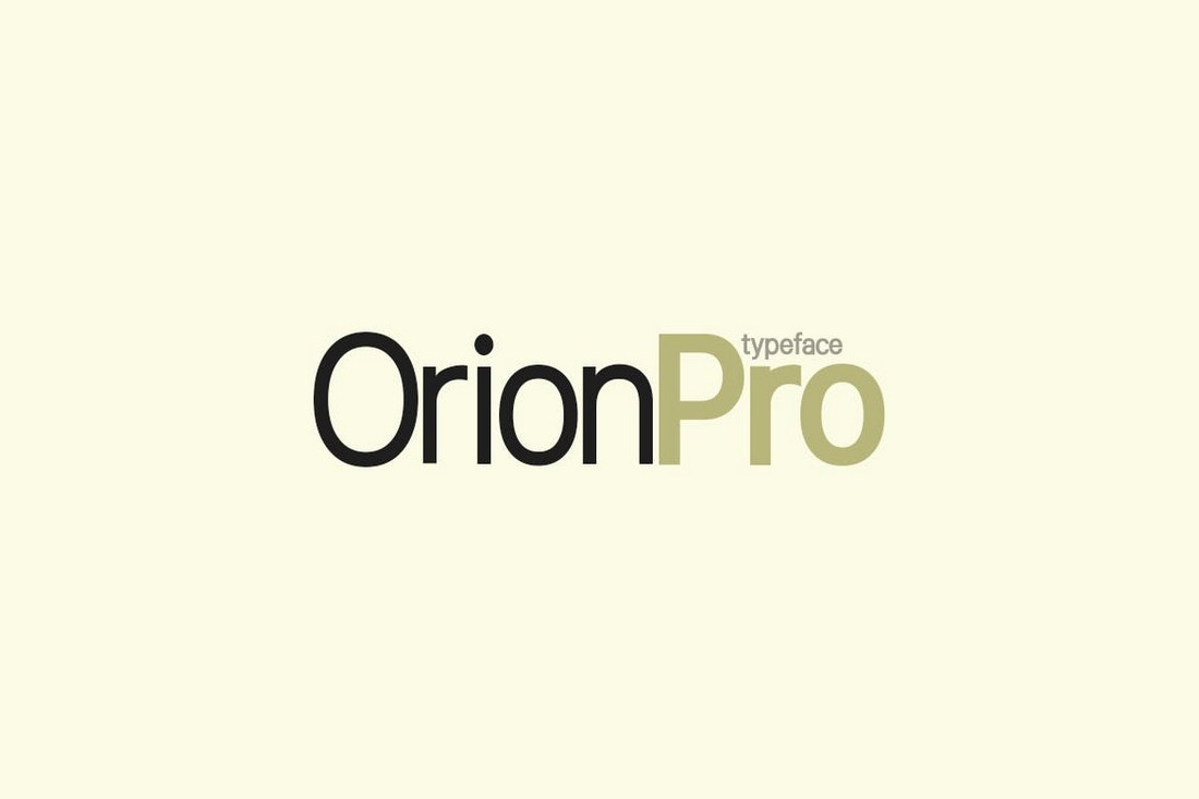 Orion Pro - Modern Fonts for Books