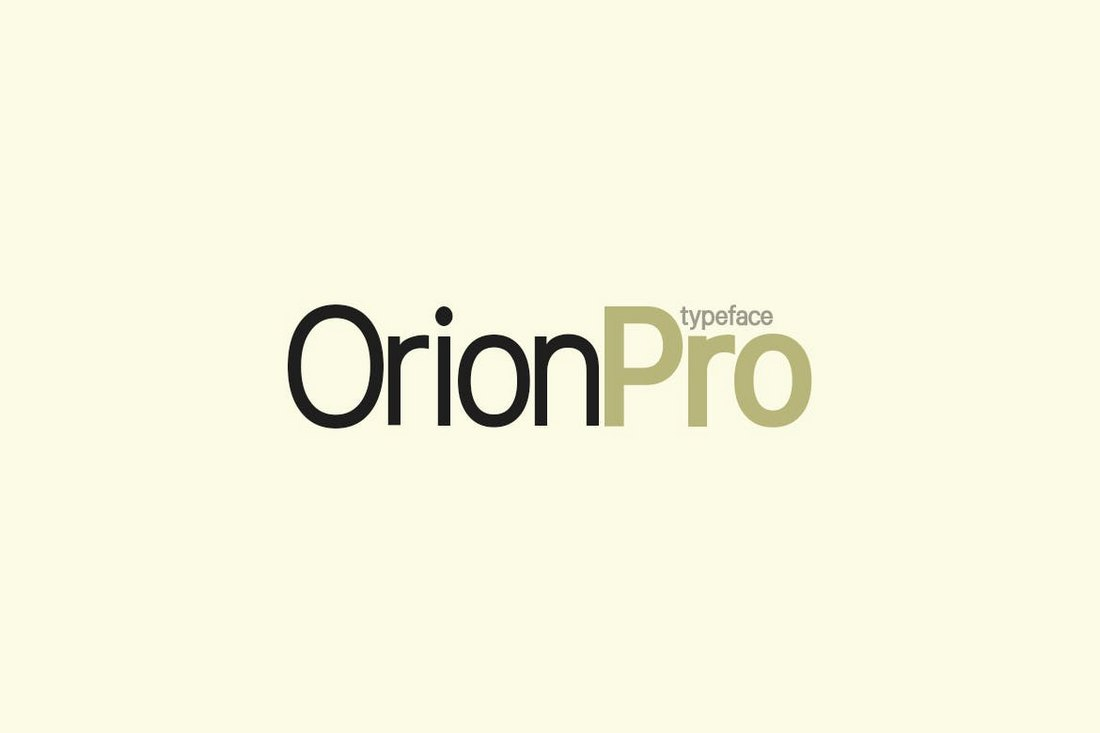 Orion Pro - Modern Sans-Serif Font