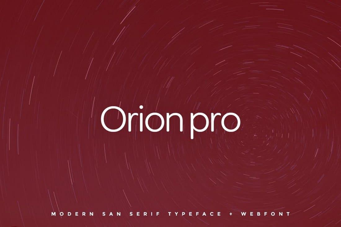 Orion pro - Typeface & Web Fonts