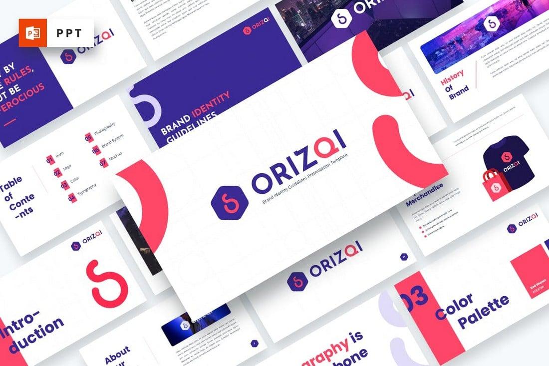 Orizqi - Brand Identity Powerpoint Template