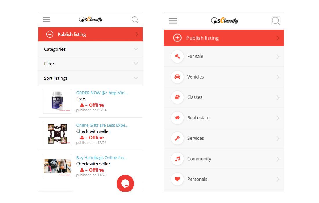Osclass-Android-and-iOS-App-Pack- 10+ Best Progressive Web App (PWA) Templates 2020 design tips