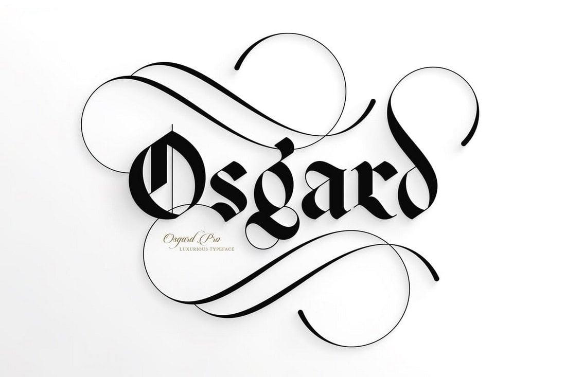 Osgard Pro - Elegant Gothic Font