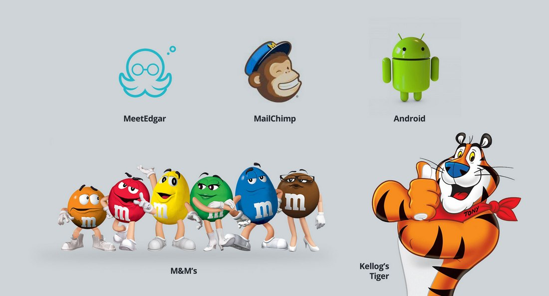 Other-brands-mascot The Design Process Behind Visme, the SaaS Character in the Cloud design tips
