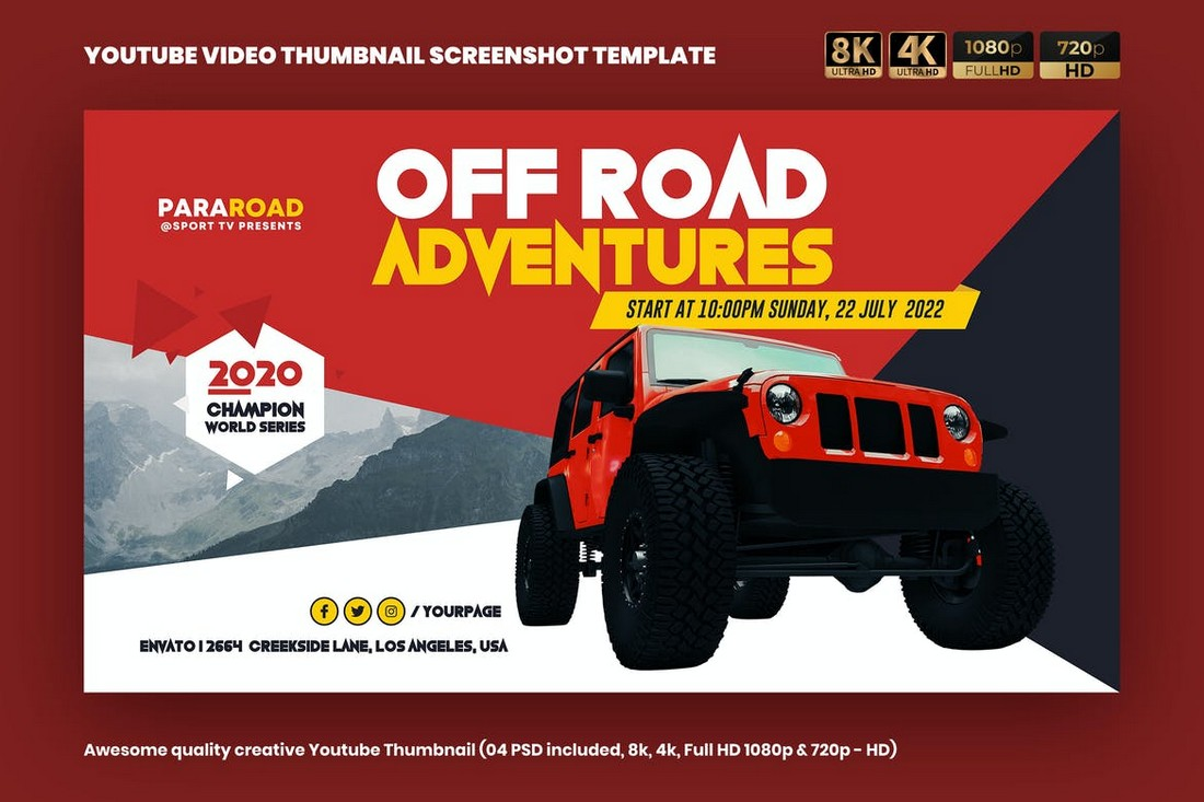 Outdoor-Adventure-YouTube-Thumbnail-Cover 20+ Best YouTube Thumbnail Templates in 2021 design tips