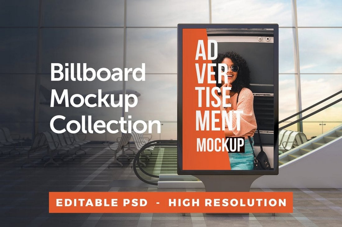 Outdoor Billboard & Poster Mockup Collection