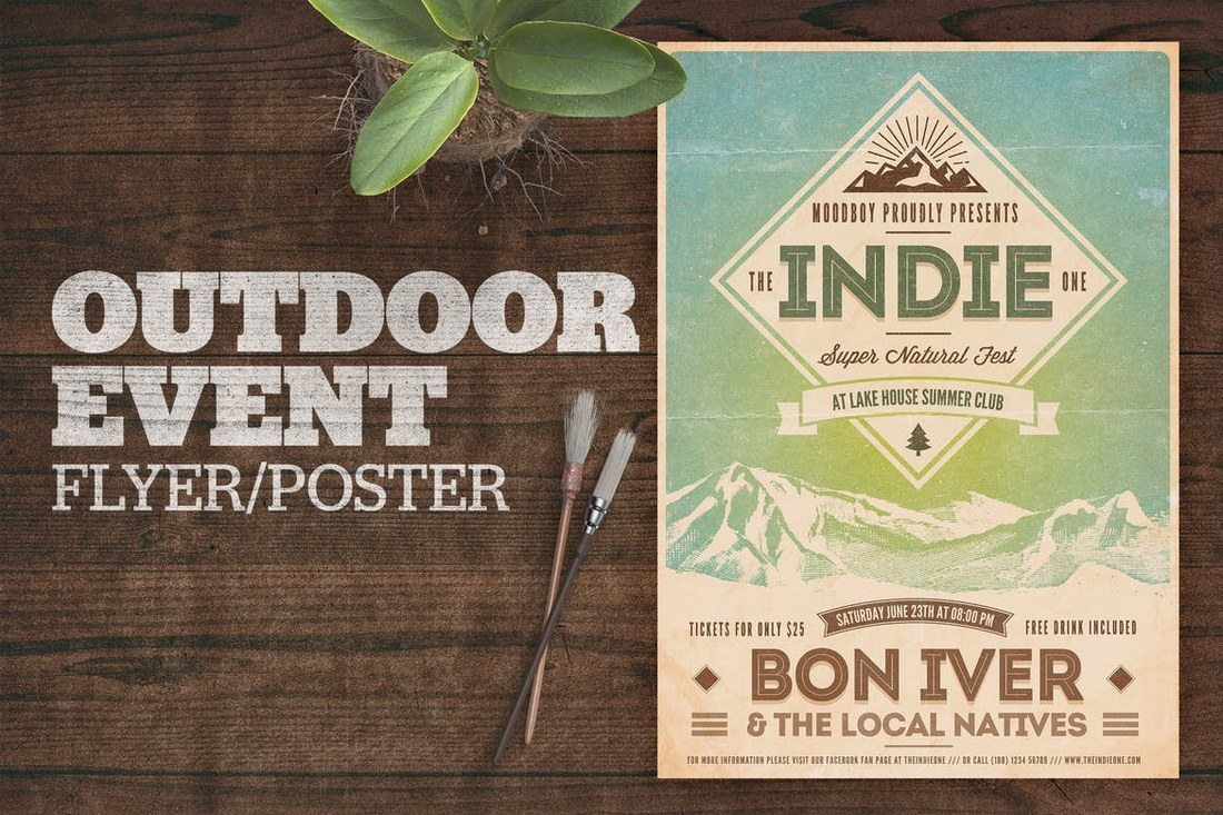 Outdoor-Event-Poster 27 Inspiring Letterpress Style Posters design tips