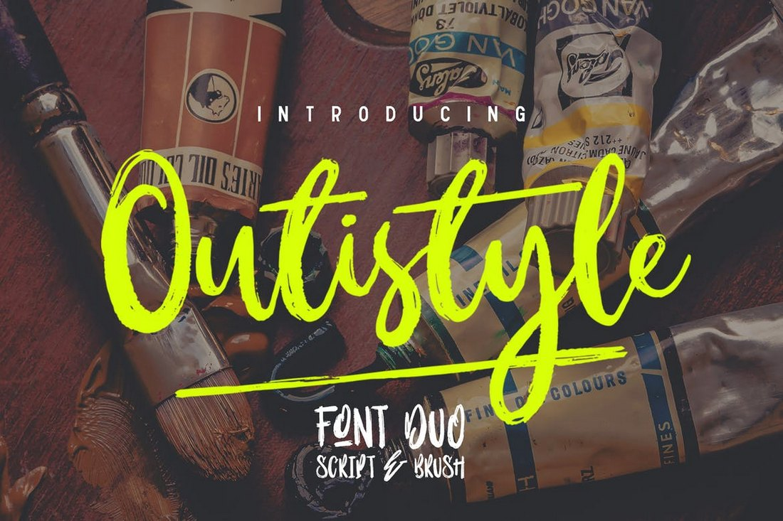 Outistyle-Handwritten-Script-Fotn 100+ Beautiful Script, Brush & Calligraphy Fonts design tips