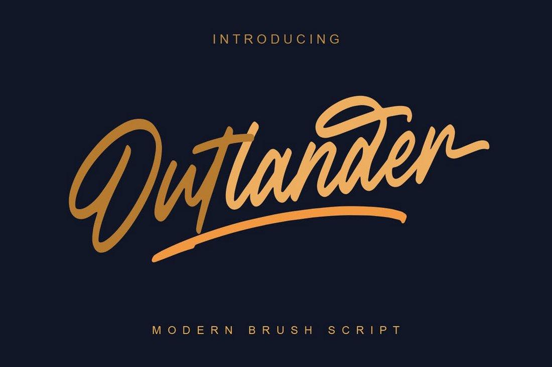 Outlander Brush Script font