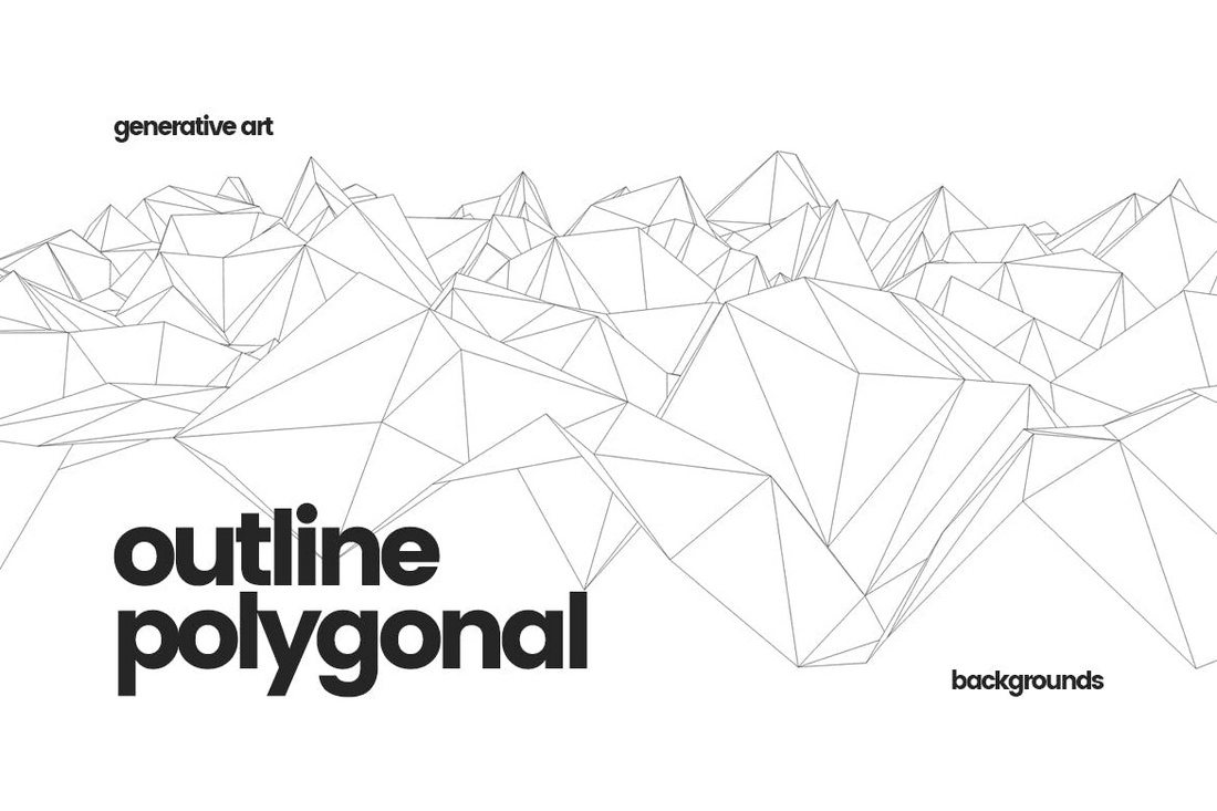 Outline-Geometric-Polygonal-Backgrounds 20+ Beautiful Geometric & Polygon Background Textures design tips