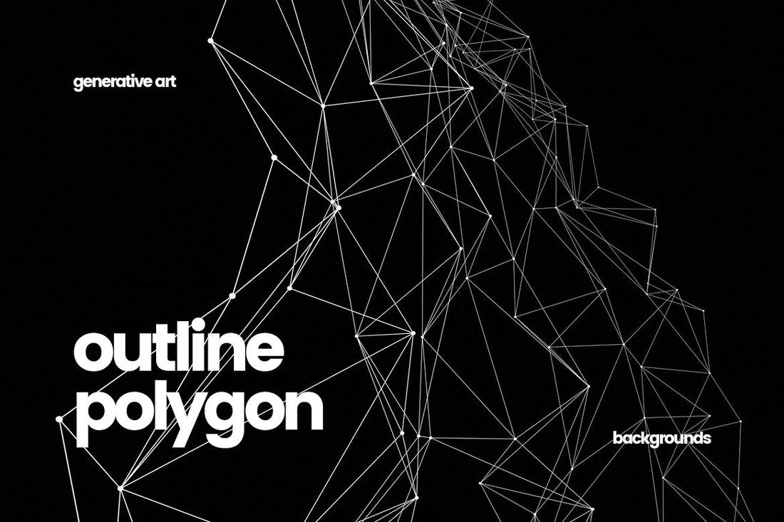 Outline-Polygon-Connected-Dots-Backgrounds 20+ Beautiful Geometric & Polygon Background Textures design tips
